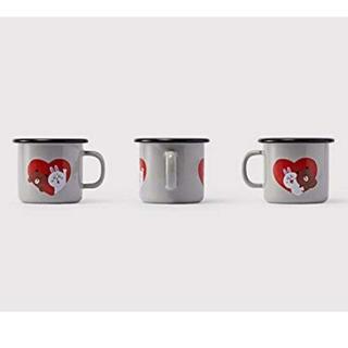 マリメッコ(marimekko)のLINE muurla コラボ ペアマグカップ(グラス/カップ)