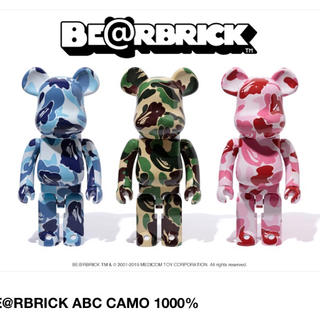A BATHING APE - bape bearbrick abc camo 1000%セット