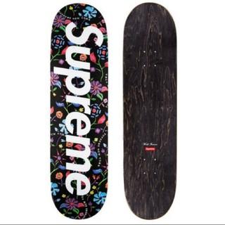 シュプリーム(Supreme)のsupreme airbrushed floral skateboard 黒(スケートボード)