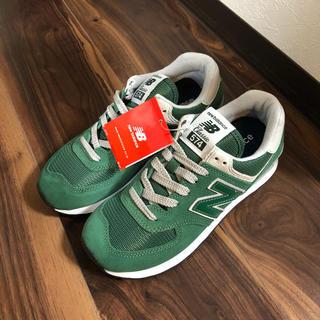 ニューバランス(New Balance)の新品  ニューバランス スニーカー ML574  グリーン  22.5cm(スニーカー)