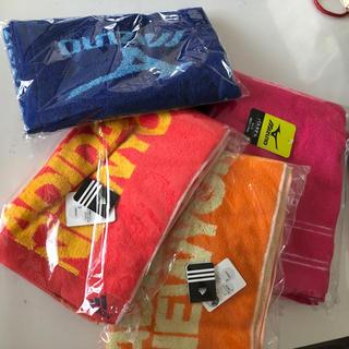 アディダス(adidas)のadidas☆MIZUNO☆スポーツタオル+バスタオルピンク,オレンジ,青,赤系(タオル/バス用品)