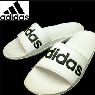 アディダス(adidas)の送料込み 新品 アディダス サンダル カロズーン 28.5センチ ホワイト 白(サンダル)