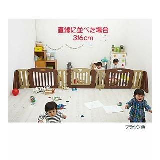 日本育児 - 日本育児 キッズパーテーション ブラウン  TVガード  ベビー 説明書つき