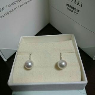 タサキ(TASAKI)の美品⭐TASAKI真珠イヤリング7.5mm☆刻印あり☆便利なクリップタイプ(イヤリング)
