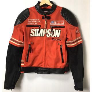 シンプソン(SIMPSON)の【H】シンプソン 2WAY フェイクレザージャケット ライディング M(装備/装具)