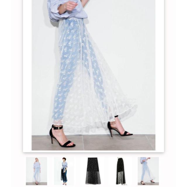 FRAY I.D(フレイアイディー)のフレイアイディー  チュールレーススカート  レディースのスカート(ロングスカート)の商品写真
