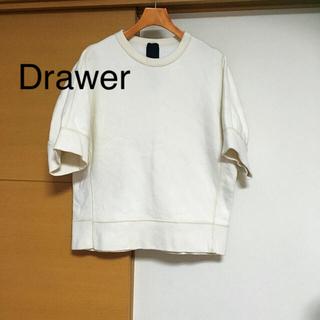 ドゥロワー(Drawer)のユナイテッドアローズ購入 ドゥロワー 半袖 トレーナー スウェット サイズ2 M(トレーナー/スウェット)