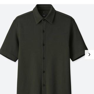 ユニクロ(UNIQLO)のユニクロ トーマスマイヤー エアリズムフルオープンポロシャツ Sダークグリーン (シャツ)