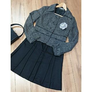ノービーンズ(KNOW BEANS)の日本製 プリーツスカート と KNOW BEANS のジャケット二点セット(スーツ)