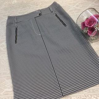ジャストビギ(JUST BIGI)のモガ♡ タイトスカート♡チェック柄♡L(ひざ丈スカート)