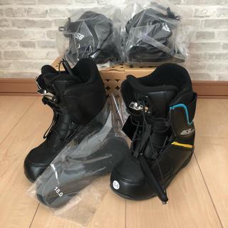 【新品未使用】CSB ジュニアスノーボード、ブーツ&ビンディング2点セット子供用(ブーツ)