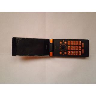エヌティティドコモ(NTTdocomo)のドコモガラケー SH-03E  オレンジ色(携帯電話本体)
