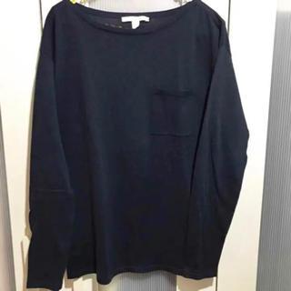 エスプリ(Esprit)のESPRIT ワンポイントポケット トップス 紺色  M(ニット/セーター)