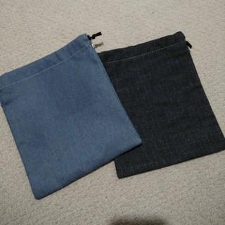 ムジルシリョウヒン(MUJI (無印良品))のデニム巾着袋(ランチボックス巾着)