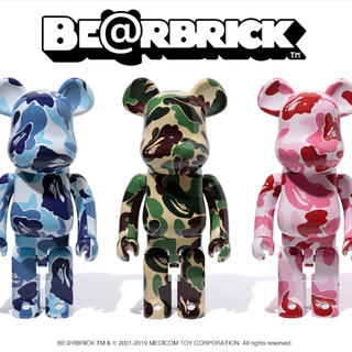 A BATHING APE - BAPE BE@RBRICK ABC CAMO 1000% 3体セット
