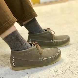 クラークス(Clarks)のワラビー  モカシン  スエード  ナチュラル  カジュアル  23  36(ローファー/革靴)