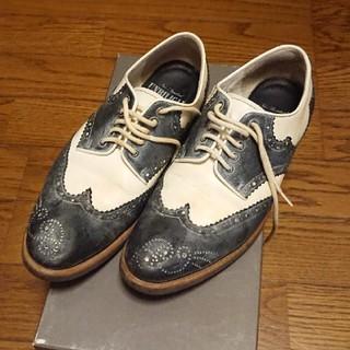 アンビリカル(UNBILICAL)のUNBILICAL レディースホワイト×ネイビー(ローファー/革靴)