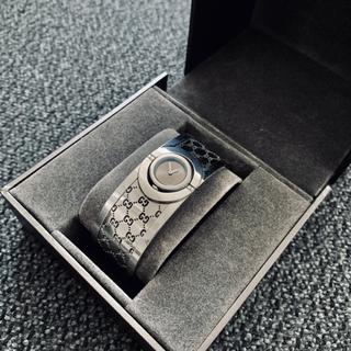 グッチ(Gucci)の【保証書付き】GUCCI 腕時計 バングル グッチ ブラウンゴールドシェル(腕時計(デジタル))