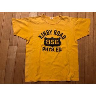 ザリアルマッコイズ(THE REAL McCOY'S)のリアルマッコイズ 半袖Tシャツ サイズ38 黄色(Tシャツ/カットソー(半袖/袖なし))