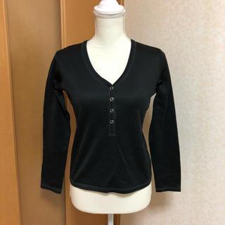 コムサコレクション(COMME ÇA COLLECTION)のCOMME CA WALK 長袖シャツ ブラック(Tシャツ(長袖/七分))