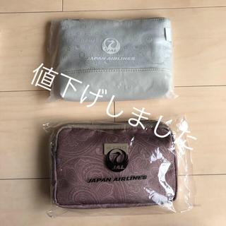 ジャル(ニホンコウクウ)(JAL(日本航空))のJAL アメニティ  ETRO / 龍村美術織物コラボ ポーチ 2個セット(旅行用品)