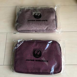 ジャル(ニホンコウクウ)(JAL(日本航空))の未開封! JALアメニティ ETROコラボ ポーチ  2色セット(旅行用品)