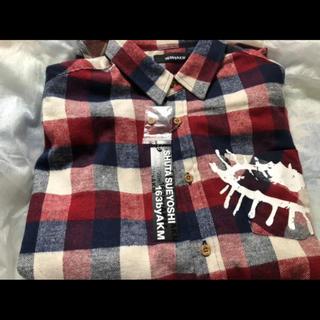 shuta sueyoshi × 163byAKM チェックシャツ赤