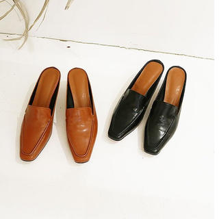 トゥデイフル(TODAYFUL)のあんこさま専用❤新品未使用❤Square Slide Loafers(ローファー/革靴)