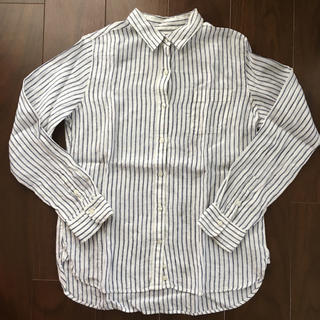 ムジルシリョウヒン(MUJI (無印良品))の無印良品 ストライプ リネンシャツ(シャツ/ブラウス(長袖/七分))