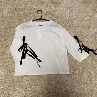 ルシェルブルー(LE CIEL BLEU)の値下げ ルシェルブルー  Tシャツ 新品未使用(Tシャツ(長袖/七分))