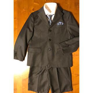 ユニクロ(UNIQLO)の男の子 フォーマルスーツ  Yシャツ 130 (ネクタイ訳あり)(ドレス/フォーマル)