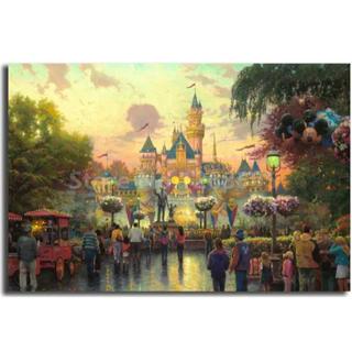 ディズニー(Disney)の【新品未使用】アートポスター 城 額付き 送料込み(アート/写真)