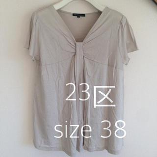 ニジュウサンク(23区)の23区 カットソー 半袖 Mサイズ 38(カットソー(半袖/袖なし))