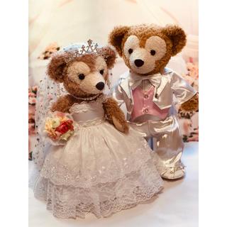 ディズニー(Disney)のウェルカムベア♪ダッフィーコスチューム♪ウェディングドレス&タキシーセットc(ウェルカムボード)