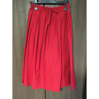 ティグルブロカンテ(TIGRE BROCANTE)の桃様専用   tigre brocante   フィセルスカート  赤  (ロングスカート)