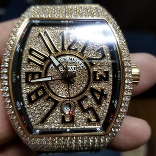 フランクミュラー(FRANCK MULLER)の炎上価格 フランクミュラー ヴァンガード フルダイヤ K18PG(腕時計(アナログ))