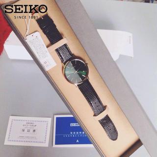 セイコー(SEIKO)のゴールドフェザー シャンパングリーン  ゴールド 腕時計(腕時計(アナログ))