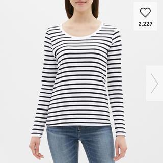 ジーユー(GU)のGU ボーダークルーネックT長袖(Tシャツ(長袖/七分))