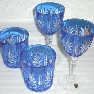クリスタルダルク(Cristal D'Arques)の【未使用品】クリスタルダルク タンブラー&ワイングラスセット(グラス/カップ)