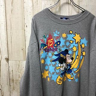 ディズニー(Disney)の【激レア】Disney ディズニー 15周年 スウェット トレーナー LL(スウェット)