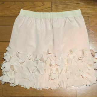シュガーローズ(Sugar Rose)のSUGARROSE 花びらスカート(ひざ丈スカート)