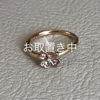 テイクアップ(TAKE-UP)の【rinrin様専用】K18ピンクゴールド ダイヤモンドリング 花 クローバー(リング(指輪))