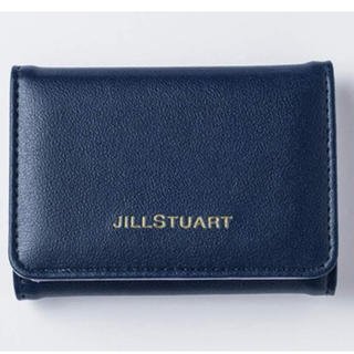 ジルスチュアート(JILLSTUART)の💖新品未使用💖ジルスチュアート💖三つ折り財布ネイビー💖(折り財布)