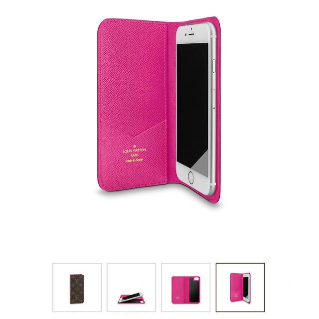 LOUIS VUITTON - ルイヴィトンiPhoneケース  7.8用  フォリオ ピンクの通販 by まいちん29's shop|ルイヴィトンならラクマ