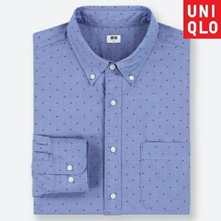 ユニクロ(UNIQLO)の★限定品、新品 UNIQLO エクストラファインコットンブロード プリントシャツ(シャツ)