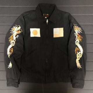 トウヨウエンタープライズ(東洋エンタープライズ)の東洋  コットンツイル スカジャン TT12828 M 豪華刺繍 ブラック 古着(スカジャン)
