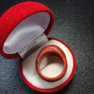 新品 ボリューム感あり スポンジ珊瑚 本指輪 リング 21号 (リング(指輪))