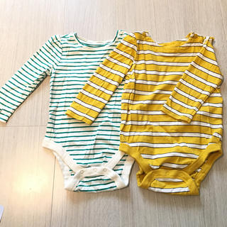 ベビーギャップ(babyGAP)の美品 GAP ベビー ロンパース 2枚セット 子供 赤ちゃん キッズ 肌着 (下着)