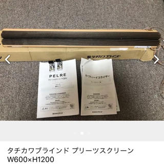 タチカワブラインド プリーツスクリーン W600×H1200(ロールスクリーン)