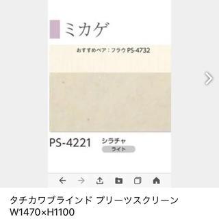 タチカワブラインド プリーツスクリーンW1470×H1100(ロールスクリーン)